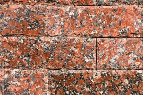 Poster Baksteen muur Background, texture, masonry red natural stone