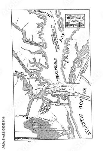 Fotografía Battle maps of the American Revolution