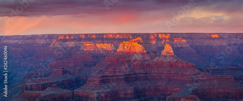 Foto auf Leinwand Aubergine lila Sunset at Grand Canyon National Park, South Rim, Arizona, USA