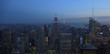 New York, Usa:Aerial view of Manhattan midtown and downtown skyscrapers ar sunset and dusk time