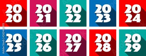 Valokuva  Pictogramme années de 2020 à 2029