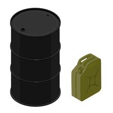Oil Barrels Set