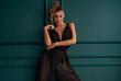 Leinwanddruck Bild - Fashionable elegant lady posing.