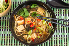 Vegetarian Asian Noodle Soup W...