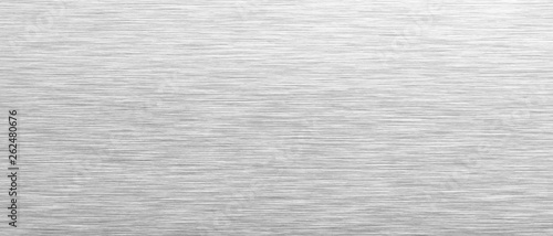 Türaufkleber Metall Aluminum background. Brushed metal texture or plate. Stainless steel texture close up. 3d illustration