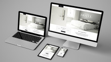 Devices Collection Showing Grand Hotel Website