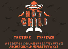 Hot Chili. Vintage 3D Serif Fo...