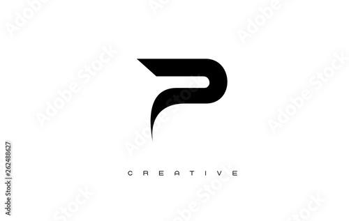 Fotografía  Gold Letter P Logo. P Letter Design Vector