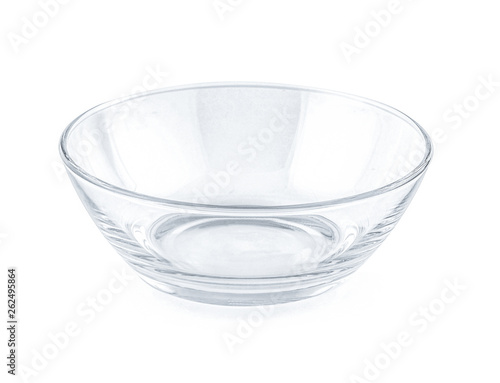 glass bowl isolated on white background Canvas