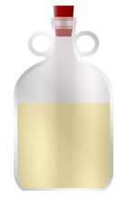 Large Glass Half Full Demijohn...