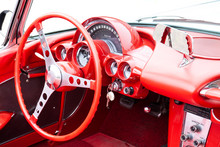 Oldtimer Classic Car - Innenraum Rot (Interior) Corvette C1