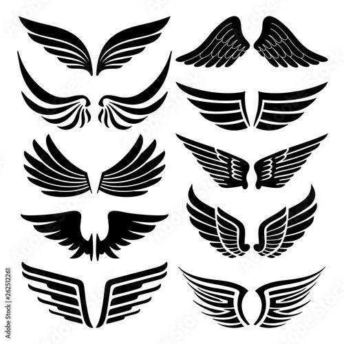 Wings Tattoo Silhouette Wallpaper Mural
