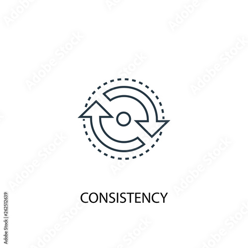 consistency concept line icon. Simple element illustration. consistency concept outline symbol design. Can be used for web and mobile UI/UX