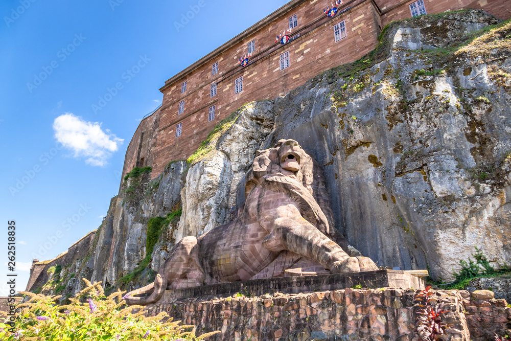 Fototapeta lion statue of the fortress of Belfort France