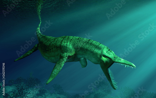 Fotografie, Obraz  Liopleurodon was a pliosaur and apex predator of the Jurassic seas