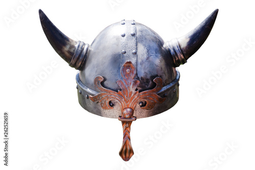 viking hat with big horns empty england . Wallpaper Mural