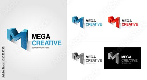 Photo  M Letter Logo Template