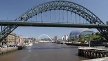 Tyne Bridge By Guildhall In Ne...