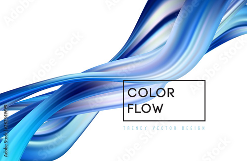 Photo Stands Abstract wave Abstract colorful vector background, color flow liquid wave for design brochure, website, flyer.
