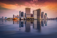 Manhattan Skyline Reflection O...