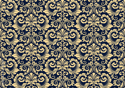 Wallpaper in the style of Baroque Canvas Print