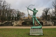 Statue Of An Archer In The Par...