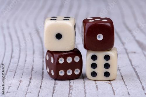 фотография  Four dice with the sum seven