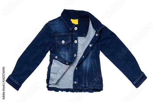 Foto  Kids jeans jacket isolated