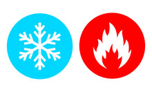 Hot And Cold Vector Icon