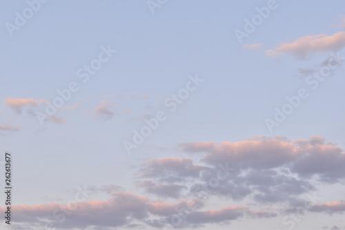Fototapeta Sunset colored clouds obraz na płótnie