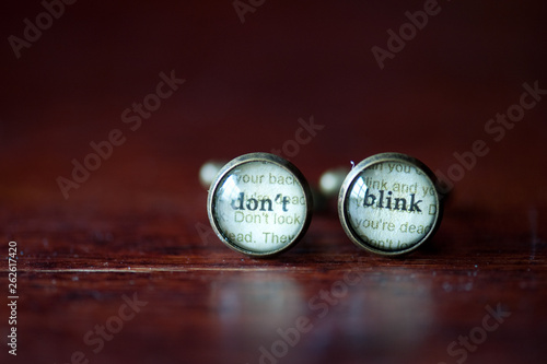 Canvas Print Dr. Who Cufflinks