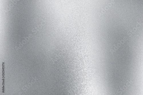 Fototapeta Shiny silver metal sheet, abstract texture background obraz