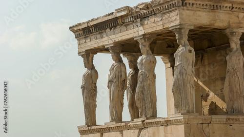 Printed kitchen splashbacks Athens the erechthion ladies at the acropolis in athens, greece