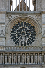 Notre Dame  De Paris Rose Window Close Up