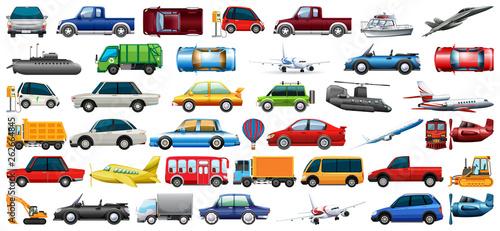 Fotografie, Obraz Set of transportation vehicle