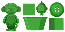 Set Of Green Toys