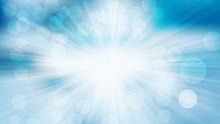 Blue And White Defocused Light...