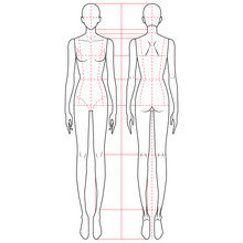 Fashion Figure Template 9 Head