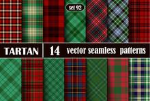 Set Tartan Seamless Pattern