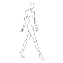 Fashion Figure Template 10 Head