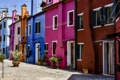 Canvas Prints Narrow alley The colors of Burano Italy