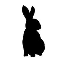 Rabbit Silhouette Hand Drawn V...