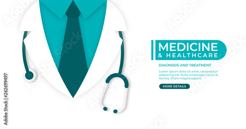 Fotografie, Obraz  Medical and health care concept background
