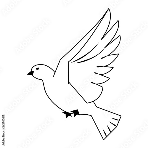 Dove Bird Flying Cartoon In Black And White Buy This Stock Vector And Explore Similar Vectors At Adobe Stock Adobe Stock