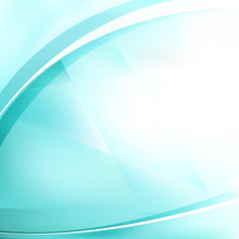 Abstract Turquoise And White B...