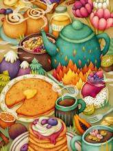 Breakfast Illustration. Mornin...
