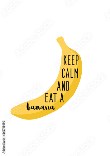 фотография Keep calm and eat a banana