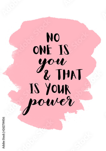 Cuadros en Lienzo  No one is you and that is your superpower