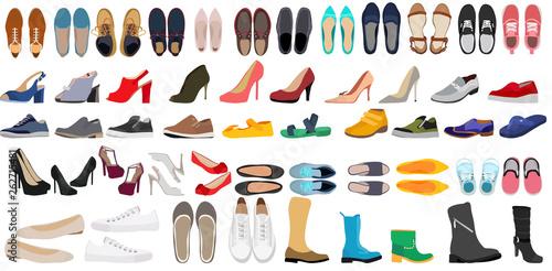 set of men's and women's shoes Tapéta, Fotótapéta