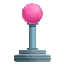 Ball Joystick Icon. Cartoon Of Ball Joystick Vector Icon For Web Design Isolated On White Background